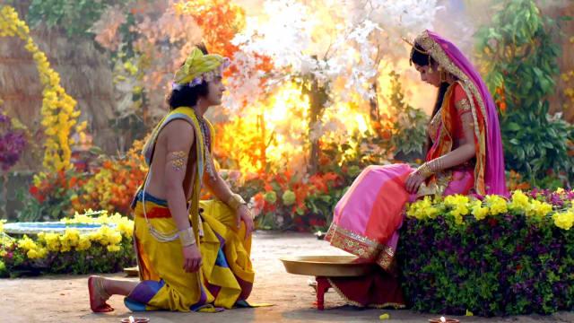 Watch RadhaKrishn TV Serial Episode 240 - Krishna Worships Radha Full  Episode on Hotstar