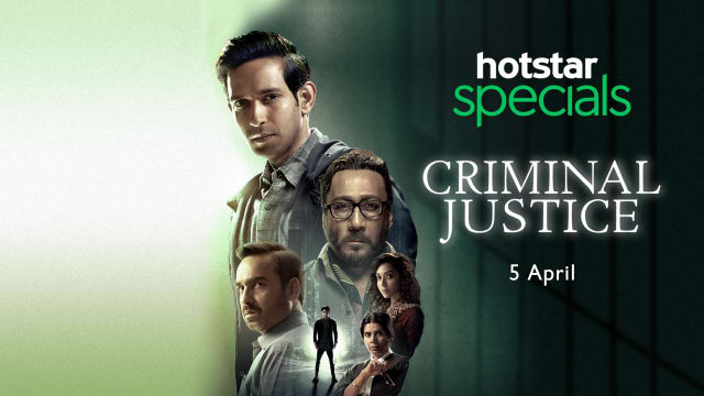 Poster Image of Indian web series Hotstar's  criminal justice