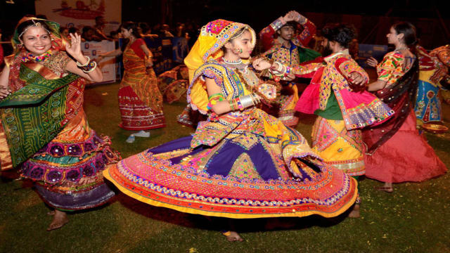 Gujarati people celebrate Garba with much joy and passion