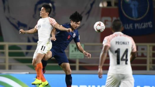 Football: Thailand vs India