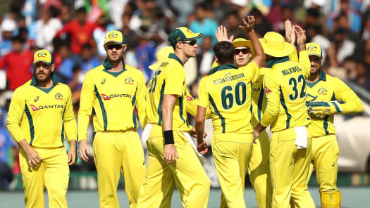 Watch India vs Australia: India FOW from Australia in India